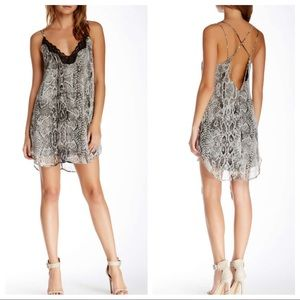 ASTR the Label Snake Print Slip Dress Small